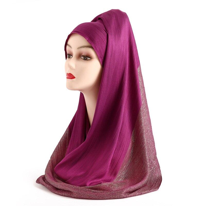 luxury 2019 women hijab   scarves   fashion solid lady headband shawl and   wrap   face head   scarves   pashmina bandana