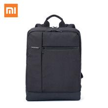 Оригинал xiaomi mi рюкзак классический бизнес рюкзаки 17l емкость студенты ноутбук сумка мужчины женщины сумки для 15 дюймовый ноутбук