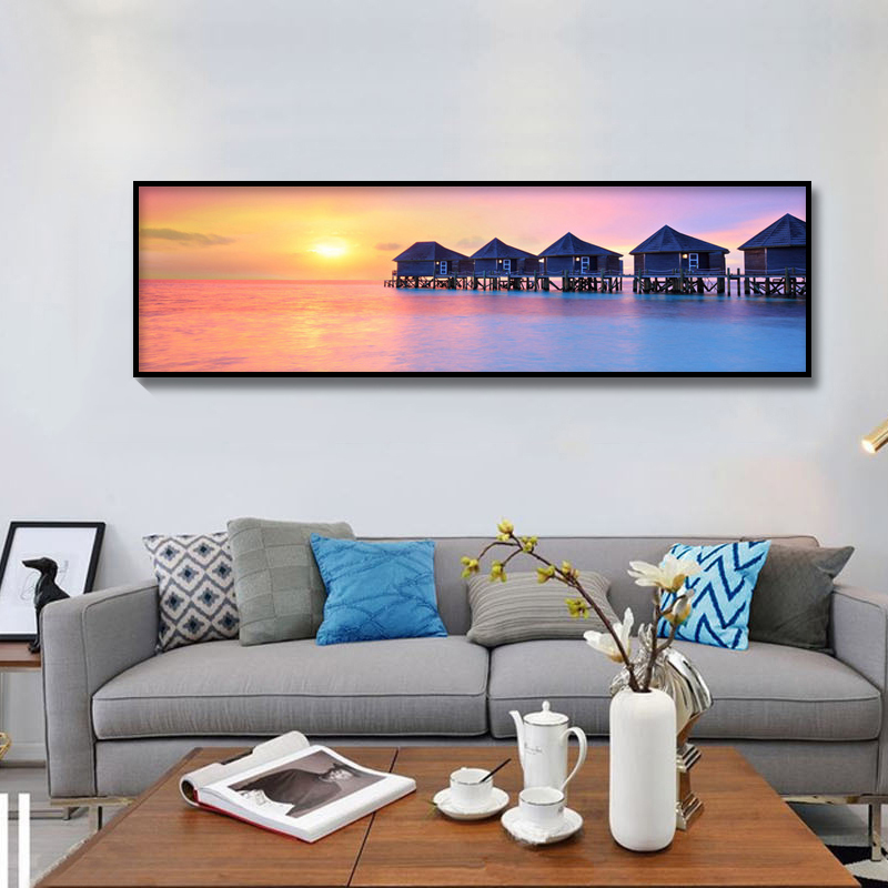 DiamondEmbroidery China landscape scenery Sunset sea view 5D Diamond Painting Cross Stitch Diamond Mosaic Decoration in Diamond Painting Cross Stitch from Home Garden