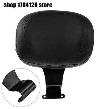 Motorcycle Black Leather Driver Backrest Pad Sissy Bar For Honda VTX 1300 2004-2007 2008 2009