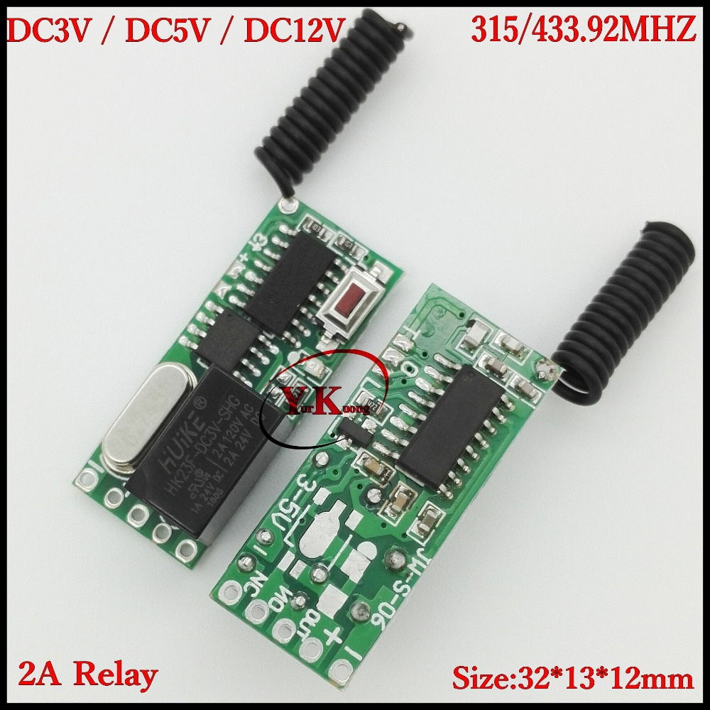 DC3V 3.3V 3.7V 4.2V 5V 12V 2A Relay Mini Remote Switch Rx only ASK Smart Home Broadlink RF App wireless Switch NO COM NC Contact only a promise