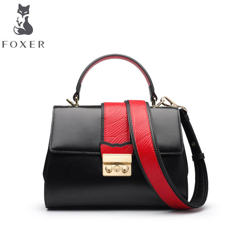 FOXER2018 high-quality fashion luxury brand new Messenger Killer wide shoulder strap shoulder bag hand bag leather american more level 3 extra practice book