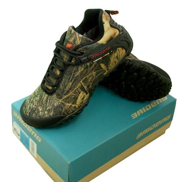 Мужская Открытый весенне-осенняя обувь бионический камуфляж против  скольжения Треккинговые ботинки Рыбалка Охота Сапоги и 846f6132e648d