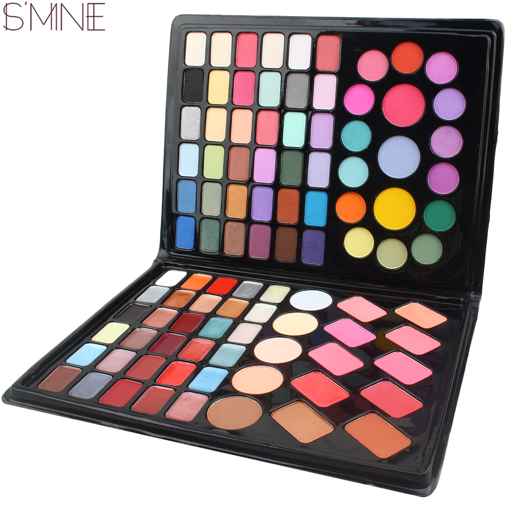 ISMINE 98 Color Fashion Makeup Eyeshadow Palette lip gloss`blush foundation Make up Cosmetics  faced makeup palette brand new 120 color eyeshadow palette cosmetics makeup eyeshadow palette eyeshadow set