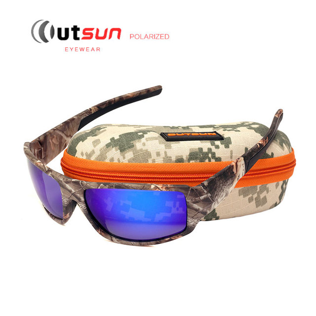 1d9b68c0cd OUTSUN 2017 Polarized Sunglasses Men Women Sport fishing Driving Sun glasses  Brand Designer Camouflage Frame De Sol