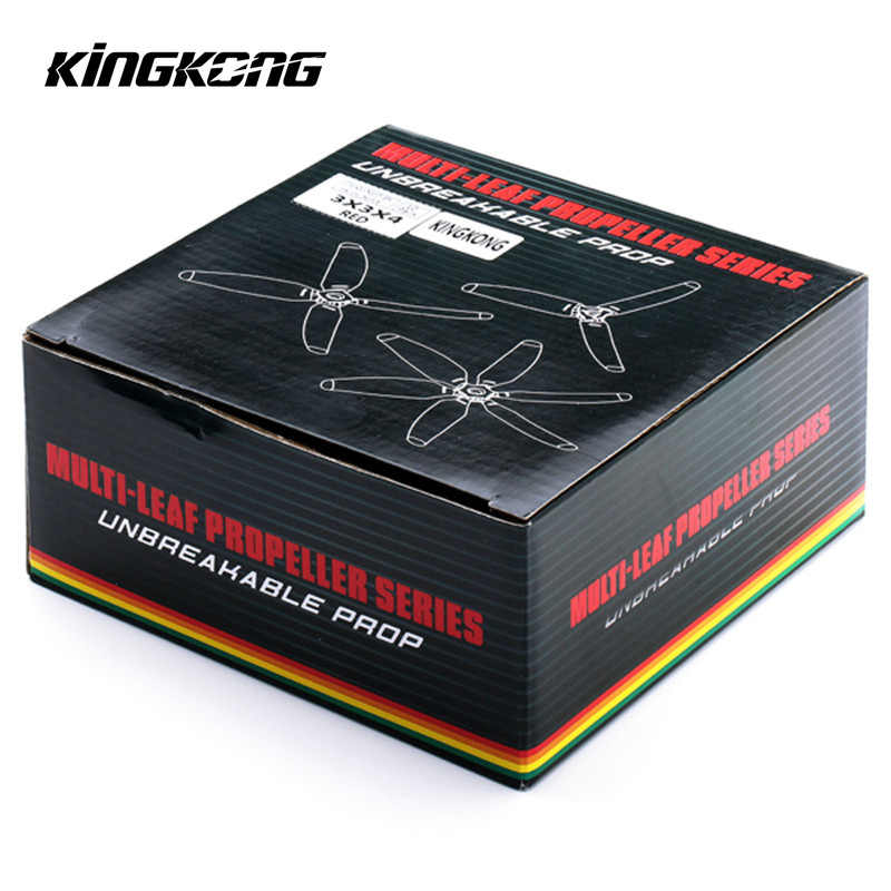 10 Pairs Kingkong 3x3x4 3030 4-Blade Propeller CW CCW Poly Carbonate Red Yellow Green Black For FPV RC Multirotor Spare Parts