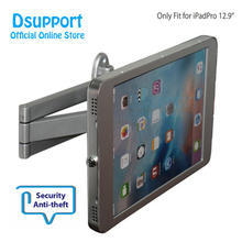 Aluminum Alloy Tablet PC wall mounted Anti Theft design Display Stand With Security Lock for IPAD PRO 12.9 INCH tablet pc anti theft display floor stand fit for ipad surface huawei holder stand metal case frame security lock holder market