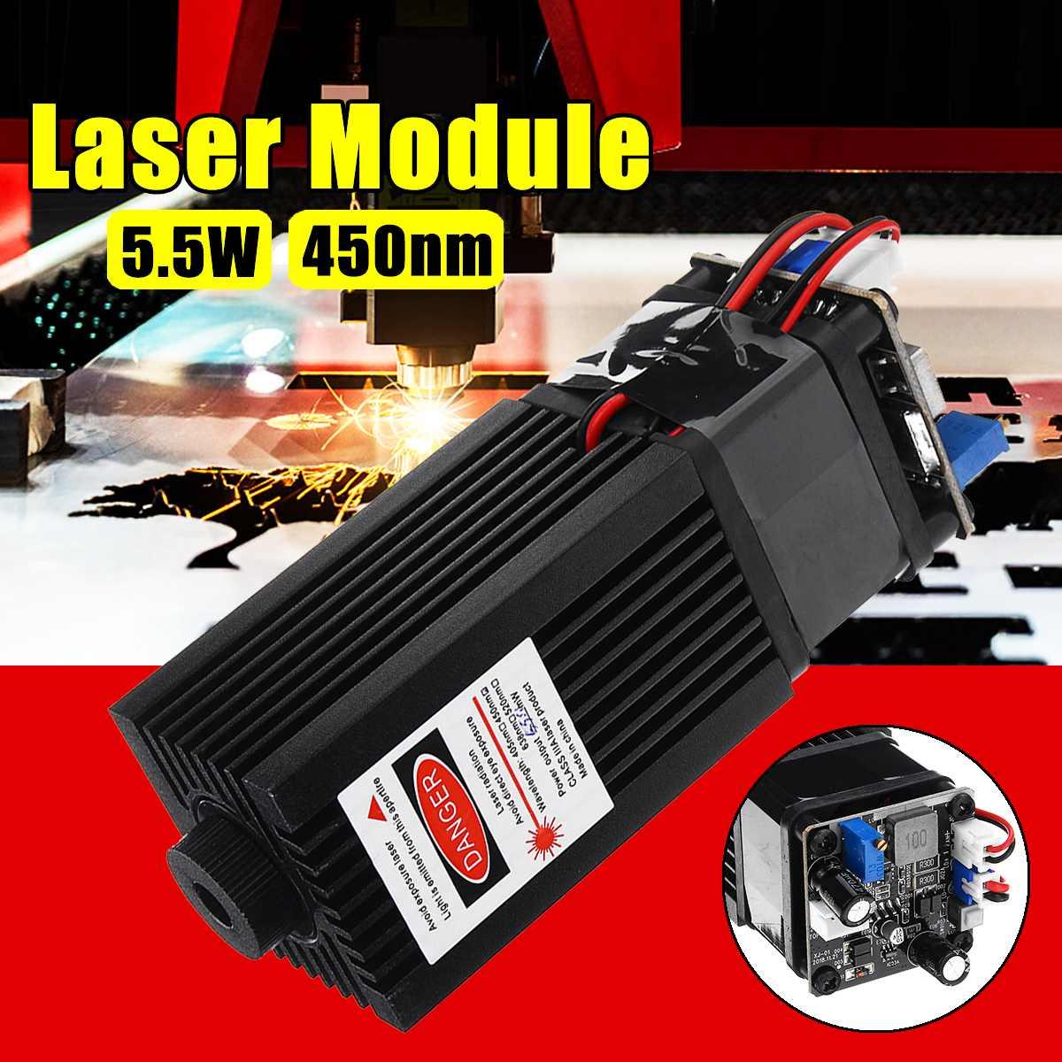 5500mW High Power 450NM Laser Module 5.5W Laser Engraving Machine Module Focusable TTL Modulation Engraving Tool Dropshipping