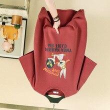 2019 short-sleeved T-shirt female new loose cartoon rabbit printing Harajuku style round neck simple wild shirt
