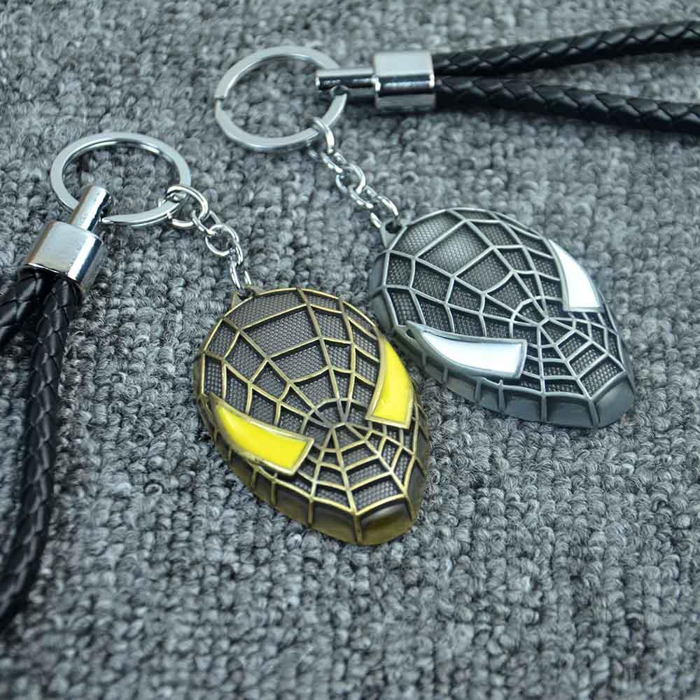 Hot Marve Spider-man <font><b>Key</b></font> Chain <font><b>Ring</b></font> Pendant Car <font><b>Styling</b></font> Purse Bag Backpack <font><b>Spiderman</b></font> Car & Motorcycle Keychain Car Accessories