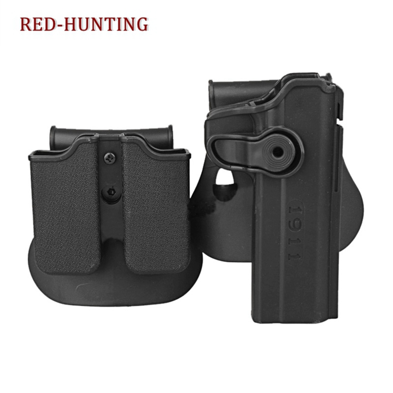 IMI Style Tactical for COLT 1911 RH Pistol & Magazine Paddle Holster Black SAND image