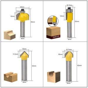 Image 5 - 12 sztuk frez zestaw bitów rozwiertaków 8mm przyrząd do cięcia drewna węglika Shank Mill przycinanie drewna grawerowanie narzędzia do rzeźbienia