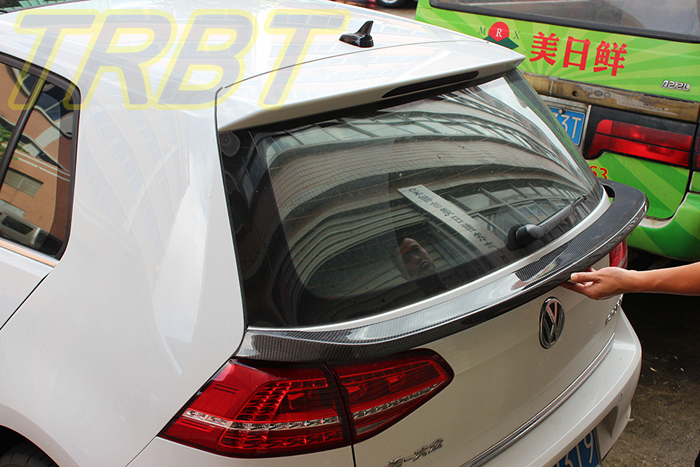 vw golf 7 middle spoiler carbon r line rear spoiler gti rear middle spoiler wing case for. Black Bedroom Furniture Sets. Home Design Ideas