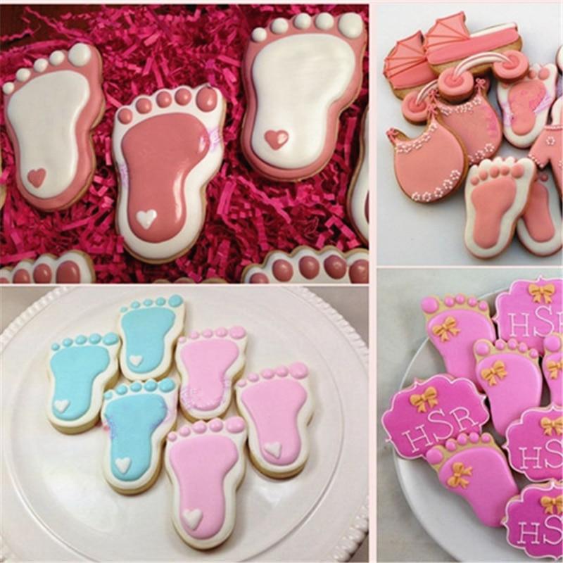 1 buc. Silicon Baby Feet Forma Tort Mold Chocolate Candy Jelly 3D - Bucătărie, sală de mese și bar