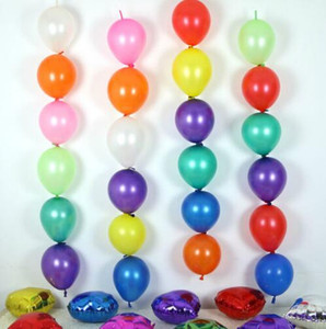 100 pcs/lot 6inch tail balloons multicolor wedding birthday party supplies marriage room decoration link balloon