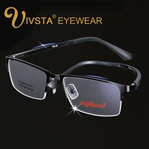 IVSTA Super Elástico TR Vidros Ópticos Homens Semi-Aro Óculos de Armação de Prescrição Óculos Masculino óculos de Design Da Marca óculos de Leitura Computador