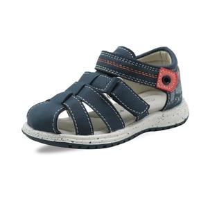 Image 2 - Apakowa/летние сандалии на плоской подошве для маленьких мальчиков; Модные сандалии гладиаторы на застежке липучке с поддержкой арки; Детская обувь