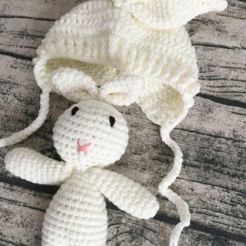 Conejo Crochet bebé sombrero recién nacido fotografía apoyos ...