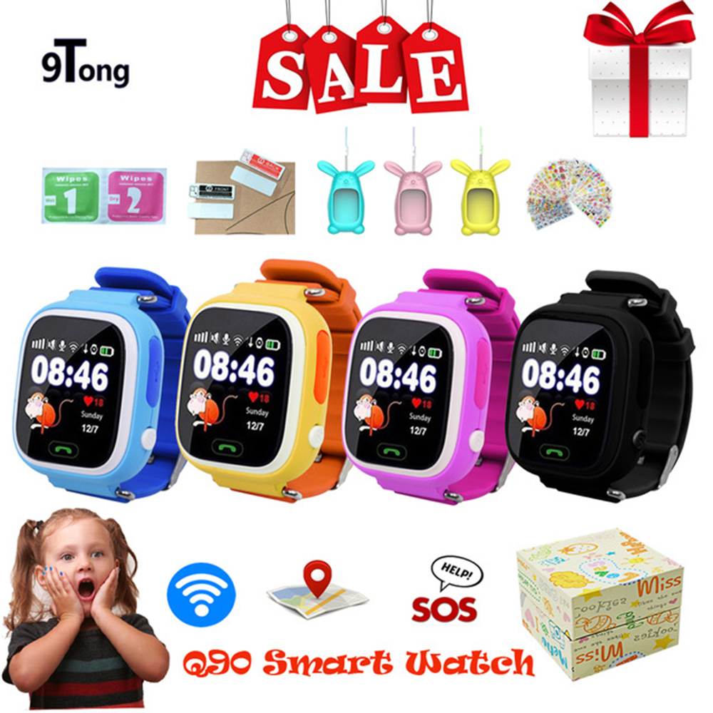 Child Smart Watch Q90 GPS LBS Positioning Children Smart Watch 1.22 Inch Touch Screen SOS Clock Tracker for Kid Safe Monitor#C1 38
