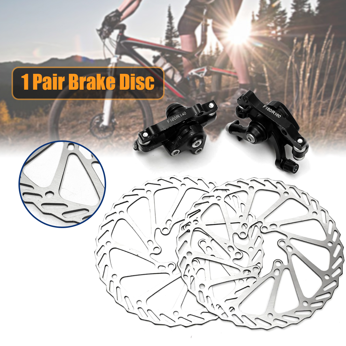 Rear MTB Mountain Bike Parts Aluminum Caliper Cycling Bicycle Disc Brake Front