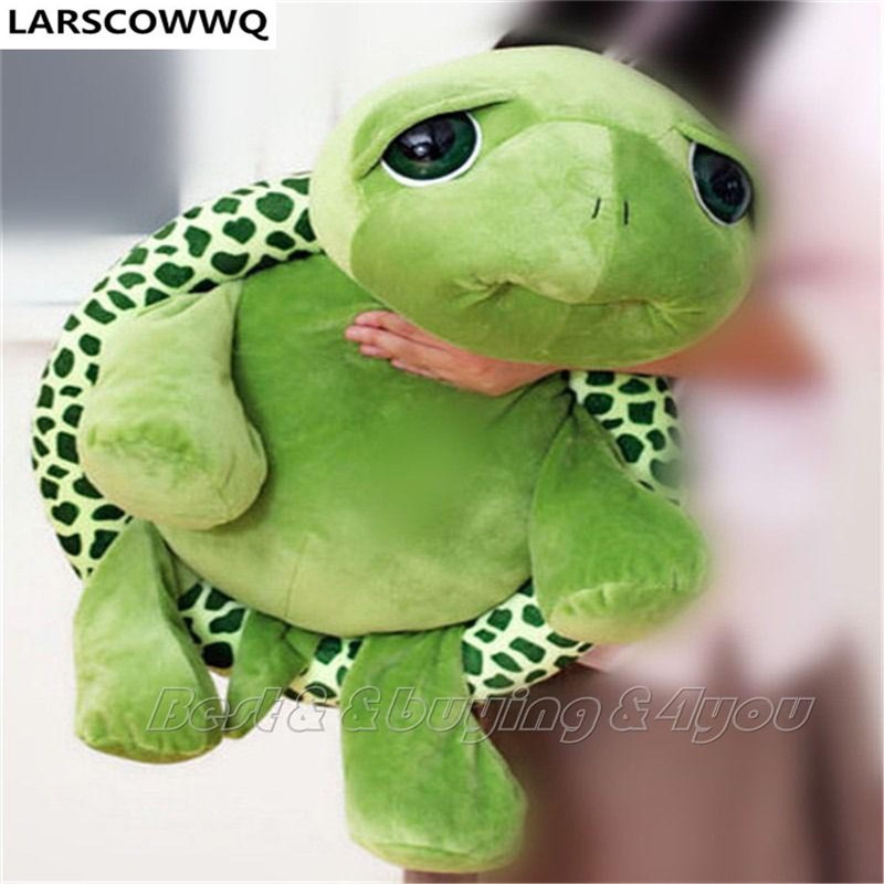Larscowwq 30cm 40cm 60cm 80cm Giant Stuffed Animal Tortoise Turtle