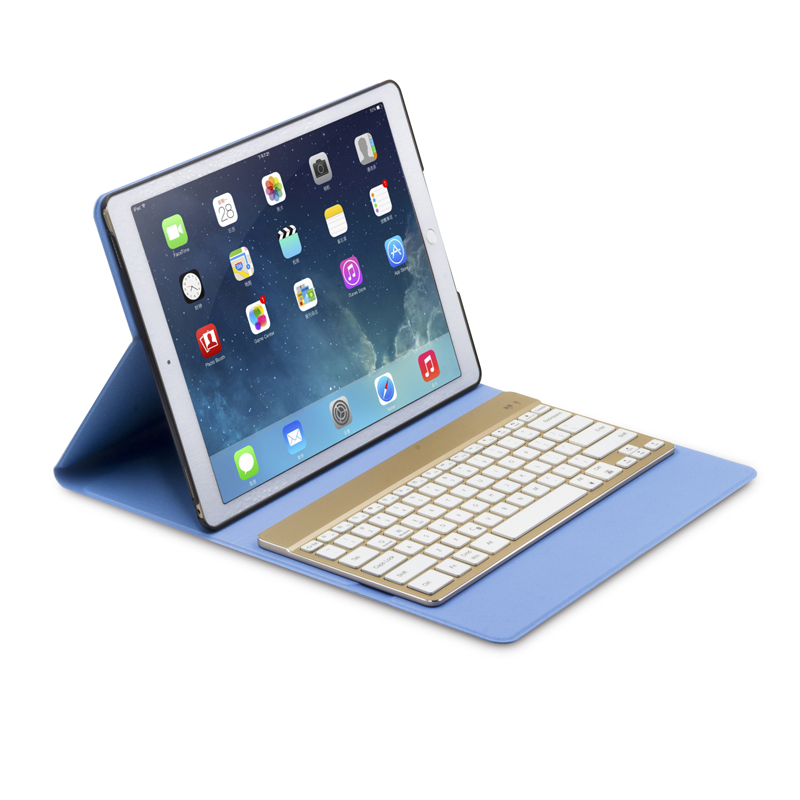 F16S+/For iPad Pro 12.9 inch Light Slim Folding 7 Colors Backlit Metal Wireless Bluetooth Keyboard Leather Case Cover Flip Stand for ipad pro 9 7 2016 wireless bluetooth keyboard case for ipad pro 9 7 2016 aluminum alloy tablet flip stand cover stylus