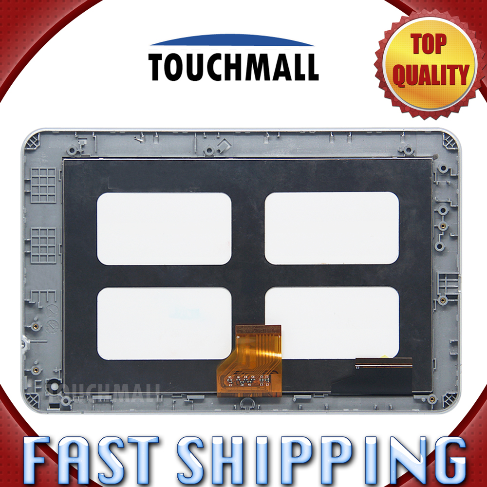 For New LCD Display Touch Screen with Frame Assembly Replacement Acer Iconia Tab B1-710 B1 710 Black Free Shipping lcd screen display touch panel digitizer with frame for htc one m9 black or silver or gold free shipping