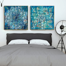 Modern Mandala Flower Wall Art Canvas Prints Vintage Poster Paintings On The For Bed Room Cuadros Decor