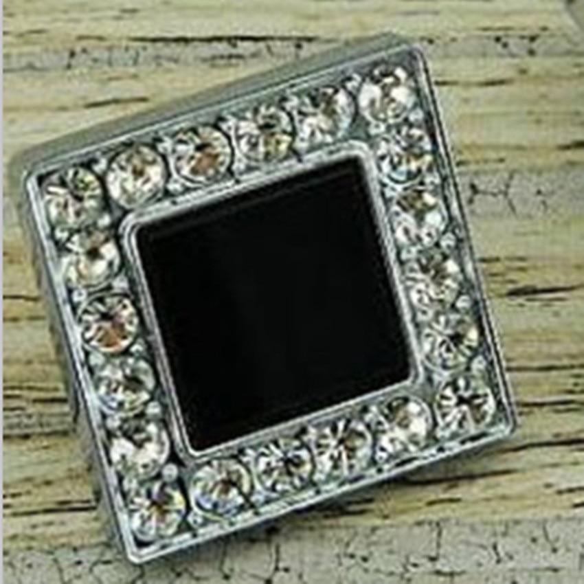 deluxe crystal diamond furniture decoration knobs rhinestone kitchen cabinet handle knob silver drawer dresser cupboard  pull