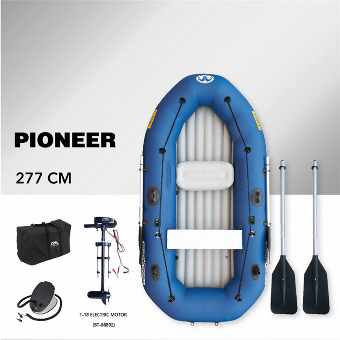 AQUA MARINA Classic Inflatable Boat Inflatable Pvc Boat Kayak For Fishing Double Persons Paddle Kayak Boat Oar Optional MotorAQUA MARINA Classic Inflatable Boat Inflatable Pvc Boat Kayak For Fishing Double Persons Paddle Kayak Boat Oar Optional Motor