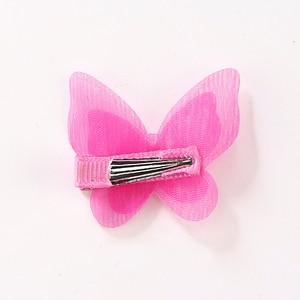 Image 5 - 1 Pc Pearl Cute Butterfly Hair Clips Snow Yarn Princess Girls Baby Hair Pins Barrette Women Hairpins Side Clip Hair Accessories