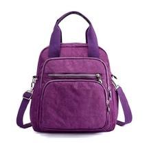 Nylon waterproof Mummy bag shoulder slung portable large capacity handbags Travel backpack multifunction diaper casual