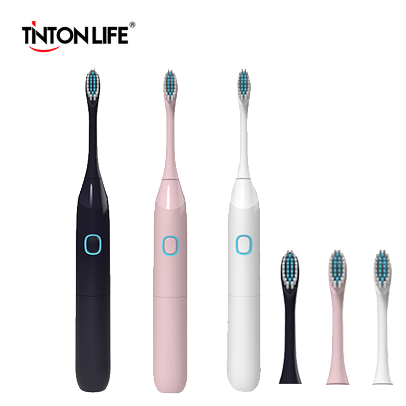 TINTON LIFE Electric Toothbrush Battery Operated With 2 Brush Heads Oral Hygiene Health Products  Electric Tooth Brush