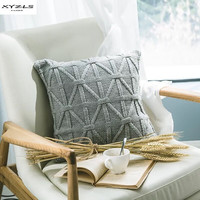 XYZLS Cushion Cover Nordic Knitted Acrylic Pillowcase Solid Sofa Waits Bedroom Decorative Pillows Capa Square Throw Pillow Cover