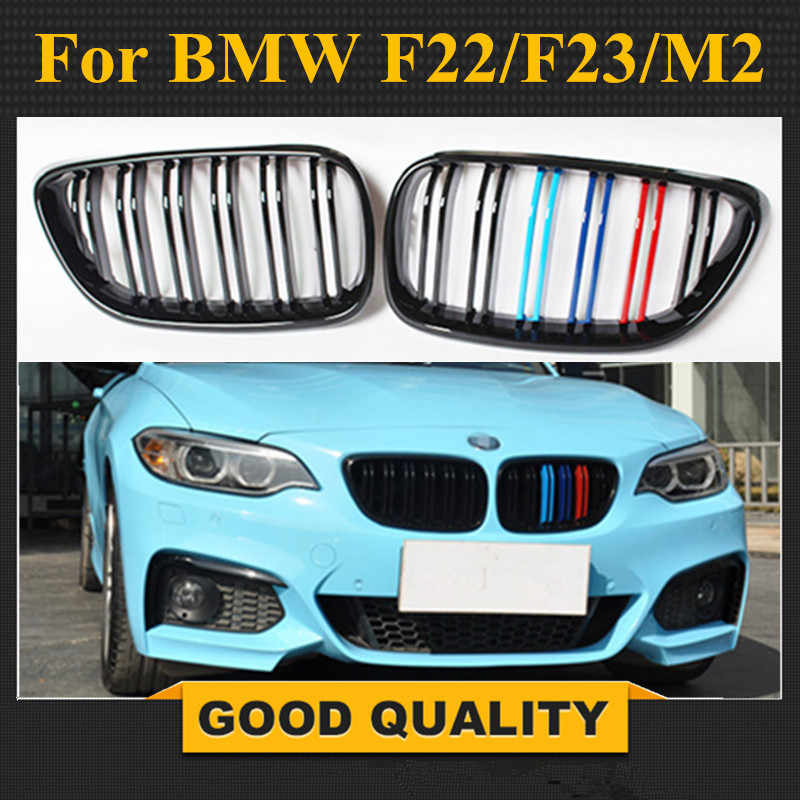 F22 Grille Gloss Black ABS Front Replacement Kidney Grill for 2 Series F22 F23 F87 M2
