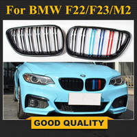 Free Shipping: 2 series F22 ABS Front Racing Grille for BMW M2 F87 F23 Kidney Bumper Grill 2014+