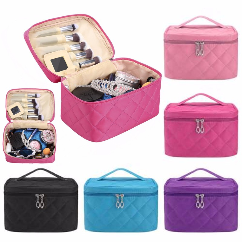 THINKTHENDO 2017 Girl Women Travel Casual Cosmetic Bag Makeup Pouch Pocket Toiletry Organizer Large Capacity Multifunction New thinkthendo women travel cosmetic toiletry makeup handbag organizer storage pouch 2018 new casual cosmetic bag
