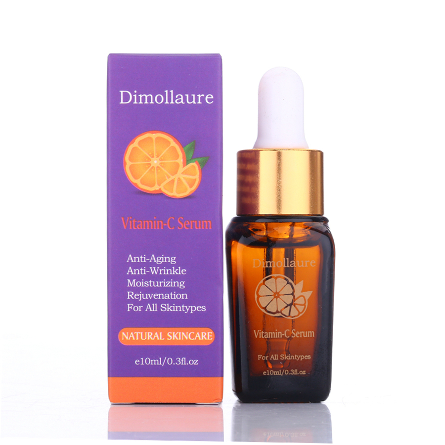 Dimollaure Vitamin C Serum Remove Acne Pimples Anti Aging Whitening Moisturzing Face Care Hyaluronic Acid Essence