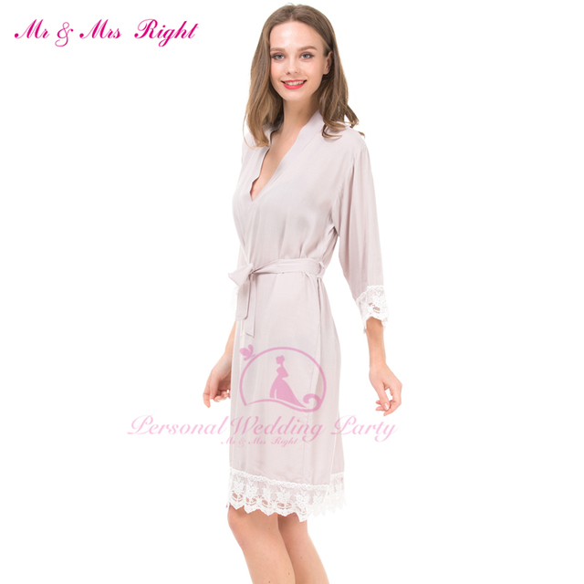 Newest Sexy Attractive Robe Kimono Style Wedding Short Cotton Lace ...
