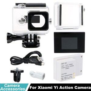 Аккумулятор Xiao mi yi bacpac, Внешний ЖК-дисплей Bacpac, водонепроницаемый чехол для дайвинга, коробка для xiaomi yi, аксессуары для камеры