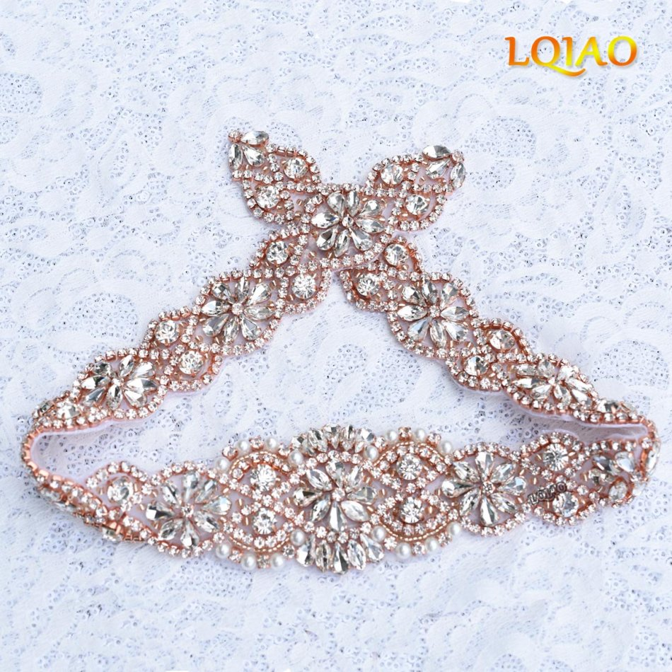 Handmade crystal bridal belt rhinestone pearl luxury wedding dress - Handmade Crystal Pearls Beaded Rhinestone Applique Wedding Bridal Belts Sashes Applique Trim For Dresses Bags