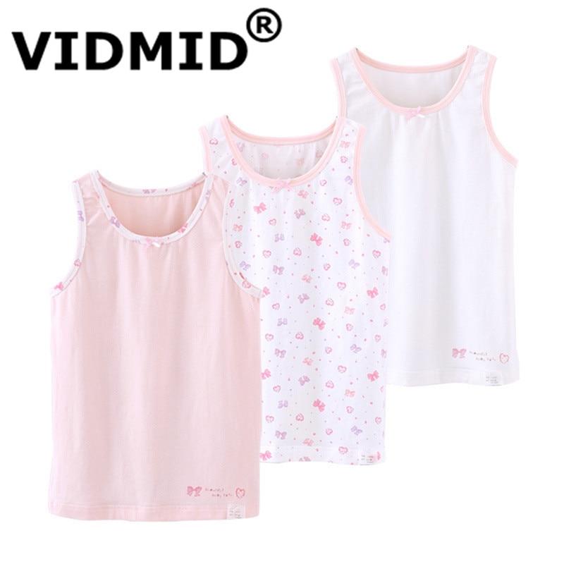 VIDMID Girls boys tanks tops girls cotton Camisoles vests girl boy candy color undershirt kids underwear Tanks Camisoles 7010 08 1