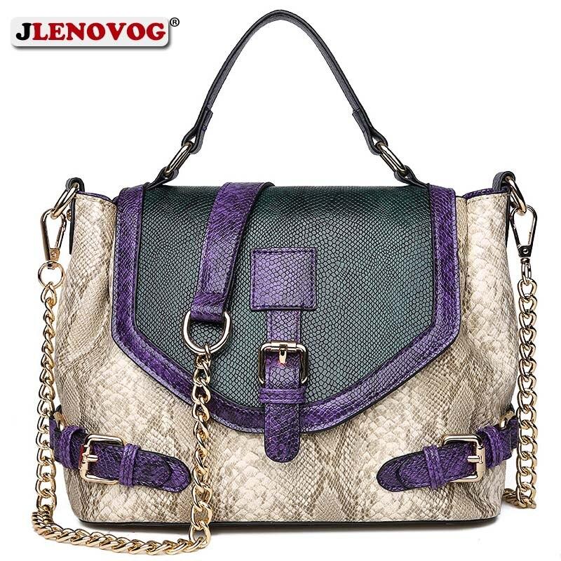 Ladies Reptile Skin Print Fashion Large Handbag Women Leather Tote Shoulder Bag