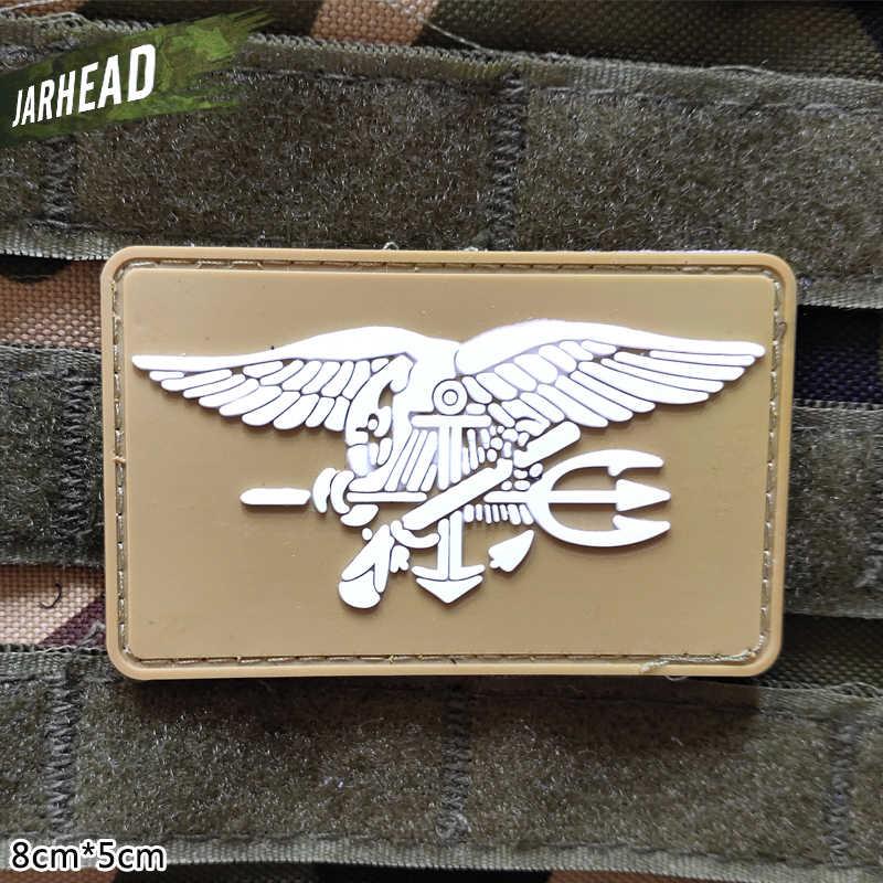 米海軍シールズ軍 Pvc パッチベルクロゴム腕章戦術的なバッジ人格バックパック帽子服ジャケット