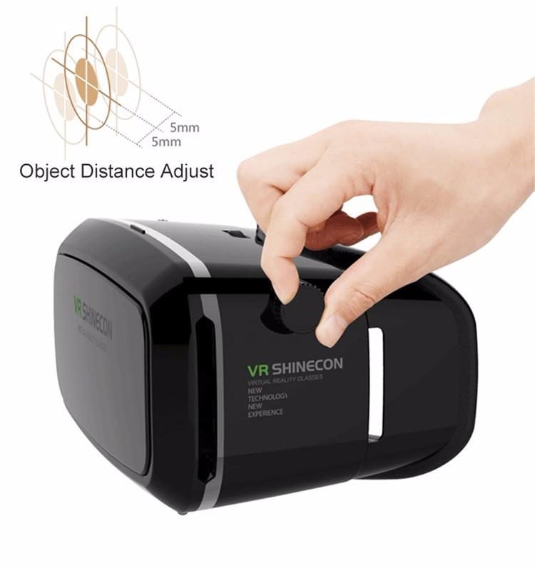 18 Original Shinecon VR Pro Virtual Reality 3D Glasses Headset VRBOX Head Mount Google Cardboard Helmet For Smartphone 4-6inch 18