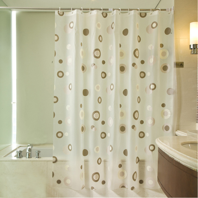Bathroom Shower Curtains Waterproof PEVA Mildew Proof Curtain