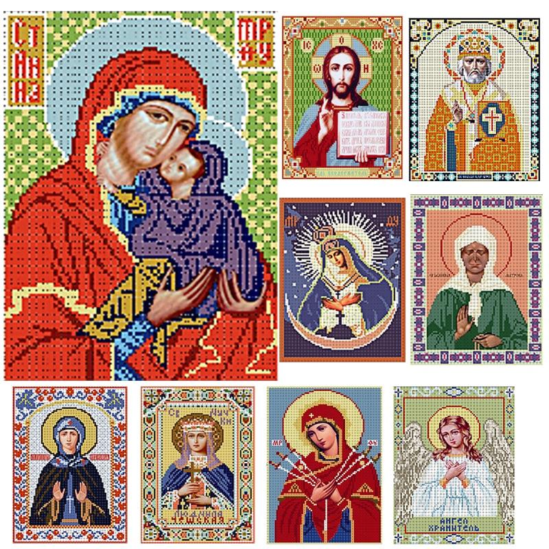 Needlework,DIY bead Cross stitch,Embroidery stitch sacred,women Precise Printed religion Pattern cross stitching
