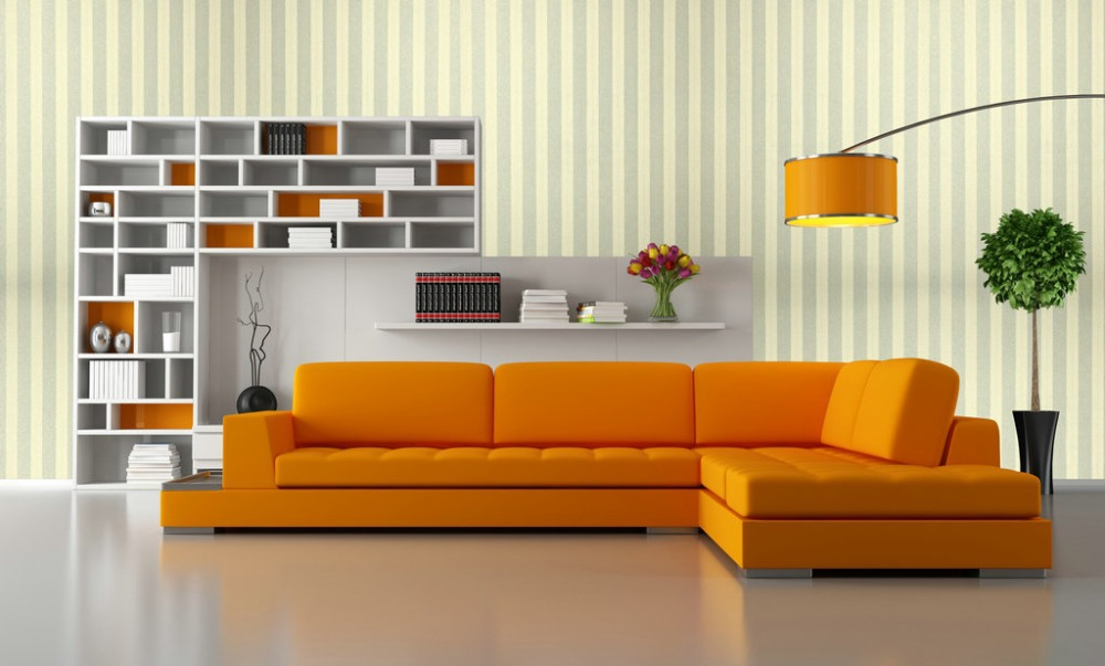 Popular horizontal striped wallpaper buy cheap horizontal for Grey striped wallpaper living room