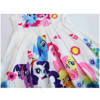 Spring and Summer My Princess Girl Print Dress Rainbow Pony  3