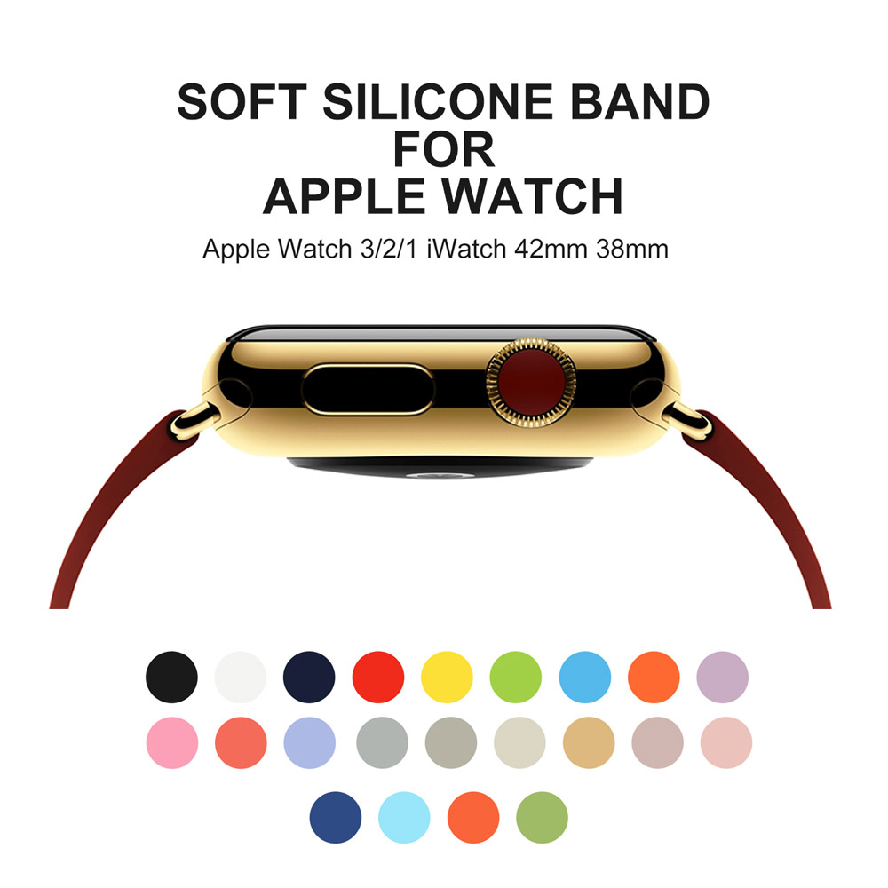 Sport Silicone Strap Band For Apple Watch 42mm 38mm Wrist Watch strap For Iwatch Series 3 2 1 Bracelet Watchband For Apple Watch for apple watch series 4 wrist bracelet luxury metal mechanical chain watch band strap for apple watch series 1 2 3 38mm 42mm